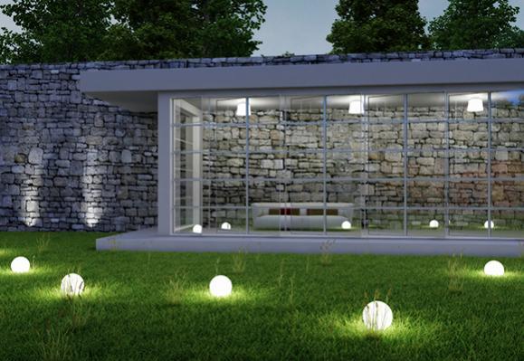 installation éclairage extérieur